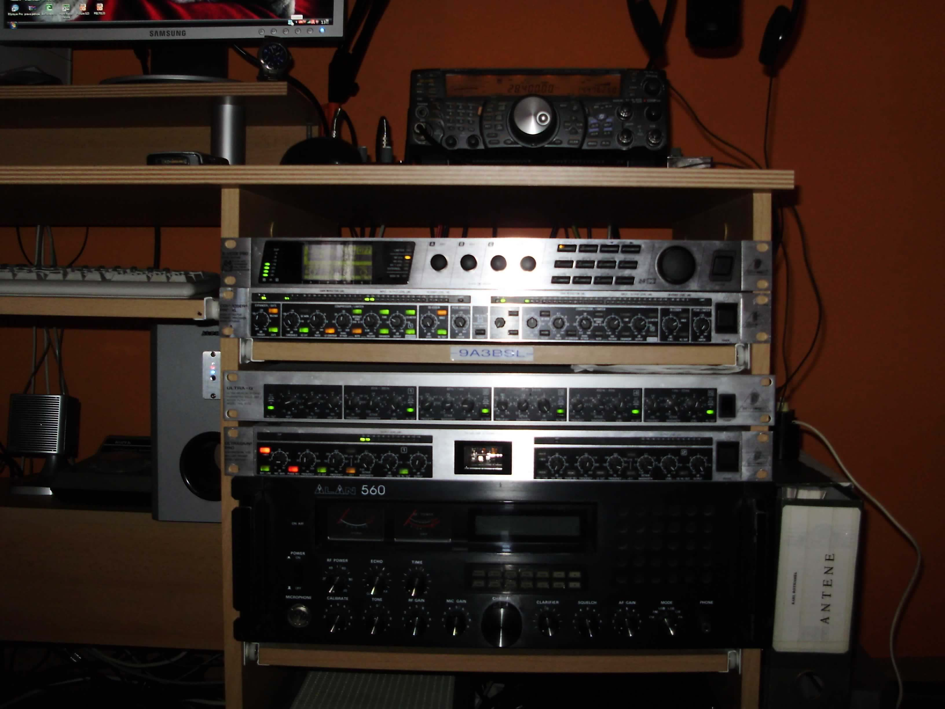 The Old 9A3BSL Rack!